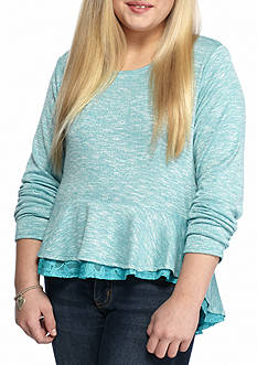 love, Fire Peplum Top Girls 7-16 Plus