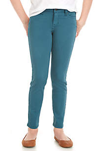 Girls 7-16 5-Pocket Colored Skinny Jeans