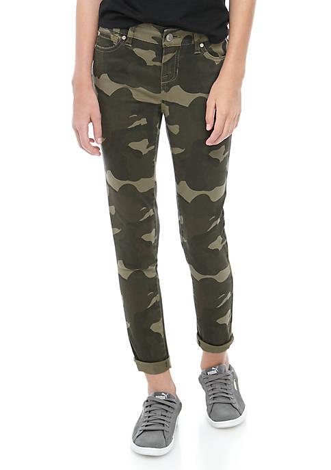 Girls 7-16 Camo Ankle Skinny Jeans