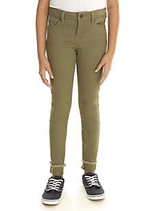 Girls 7-16 Destructed Color Skinny Jeans