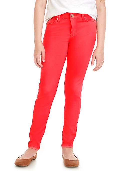Celebrity Pink Girls 7-16 Two-Button Stacked Color Skinny