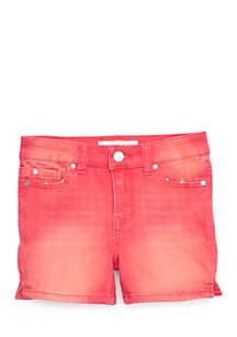 Girls 7-16 Color Denim Shorts