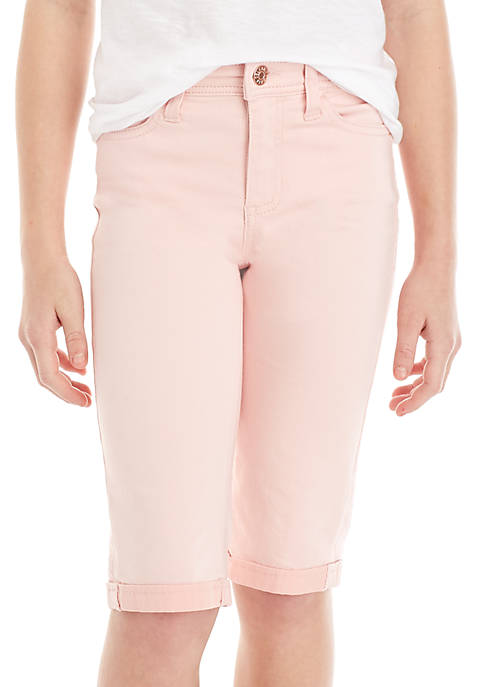 Celebrity Pink Girls 7-16 Color Rolled Bermuda Shorts