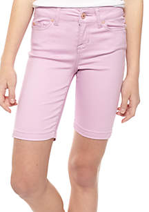Solid Twill Bermuda Shorts Girls 7-16