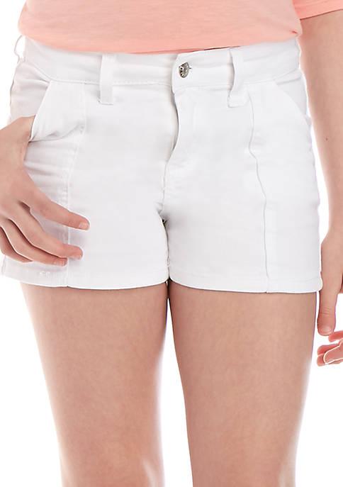 Girls 7-16 Color Pork Chop Shorts