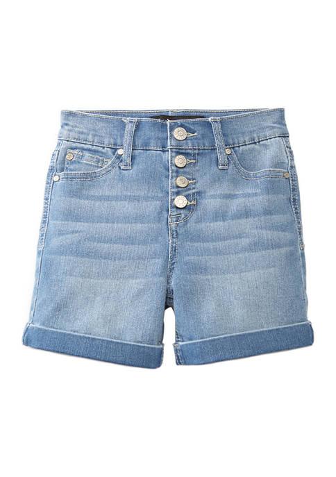 Celebrity Pink Girls 7-16 Button Front Denim Shorts