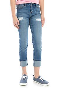 Celebrity Pink Girls 7-16 Mishank Destructed Crop Jeans