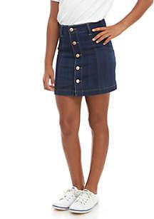 Celebrity Pink Girls 7-16 Snap Front Denim Skirt
