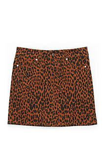 Celebrity Pink Girls 7-16 5 Pocket Allover Cheetah Skirt