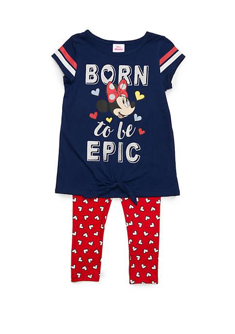 Disney® Junior™ Girls 4-6x Short Sleeve Minnie Mouse