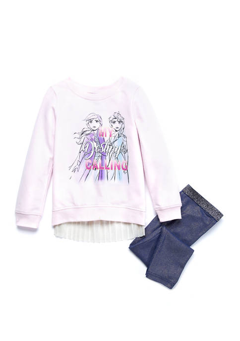 Disney® Girls 4-6x French Terry Tunic and Leggings
