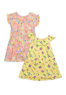 d357705e6 Forever Me Girls 4-6x Yummy Butterfly and Floral Dress Set ...