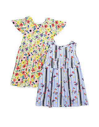 2312320d1 Forever Me Girls 4-6x Yummy Floral and Butterfly Print Dress Set | belk