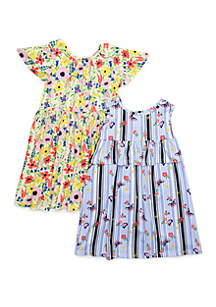 1887195f7b5 ... Forever Me Girls 4-6x Yummy Floral and Butterfly Print Dress Set