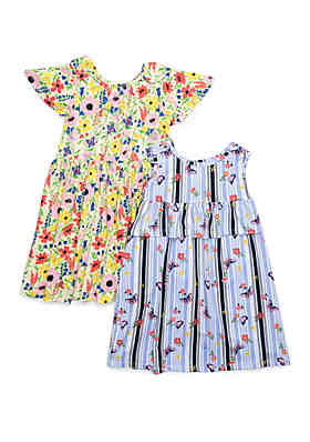 3b651ed30d2 Forever Me Girls 4-6x Yummy Floral and Butterfly Print Dress Set ...