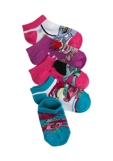 Girls 5 Pack Trolls 2 Socks