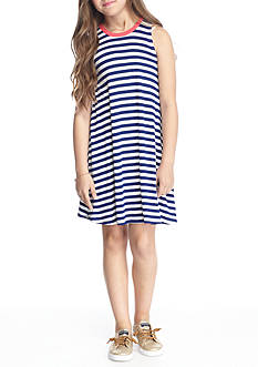 J. Khaki® Knit Striped Dress Girls 7-16