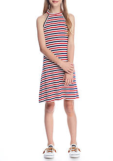 J. Khaki® Red, White and Blue Striped Dress Girls 7-16