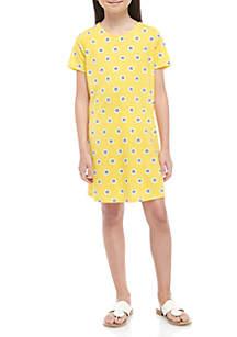 Crown & Ivy™ Girls 7-16 Lattice Promo Dress
