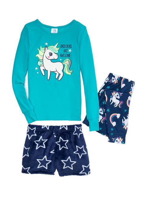 Jellifish Kids Girls 7-16 Lush 3 Piece Pajama