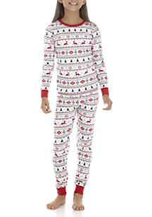 Girls 4-16 Fairisle Pajama Set