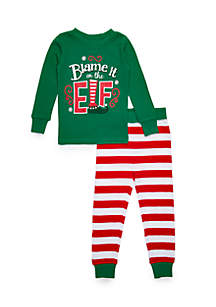 MERRY Wear Girls 4-16 Blame It On The Elf Pajama Set