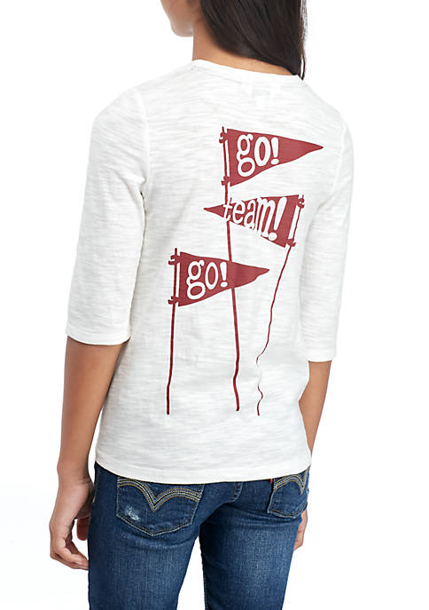 Crown & Ivy™ Girls 7-16 3/4 Game Day