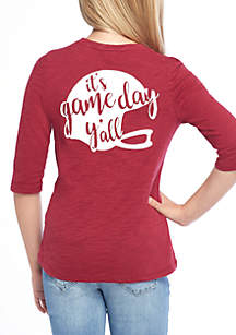 Girls 7-16 3/4 Game Day Tee