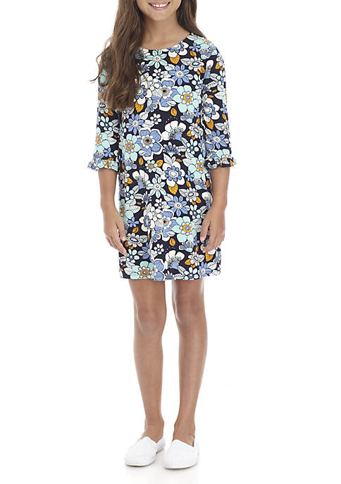 Crown & Ivy™ Girls 7-16 Three-Quarter Floral Dress