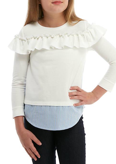 5ad5ff855265b Crown   Ivy™ Girls 7-16 Long Sleeve Knit
