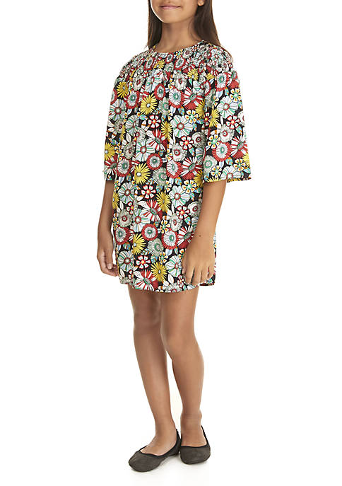 Crown & Ivy™ Girls 7-16 3/4 Sleeve Woven