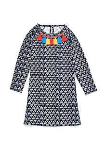 Crown & Ivy™ Girls 7-16 Printed Ottoman Dress