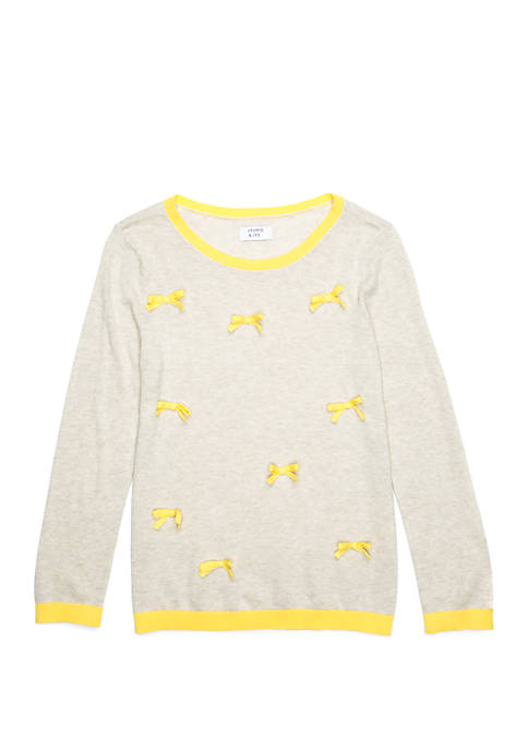 Crown & Ivy™ Girls 7-16 Long Sleeve Bow