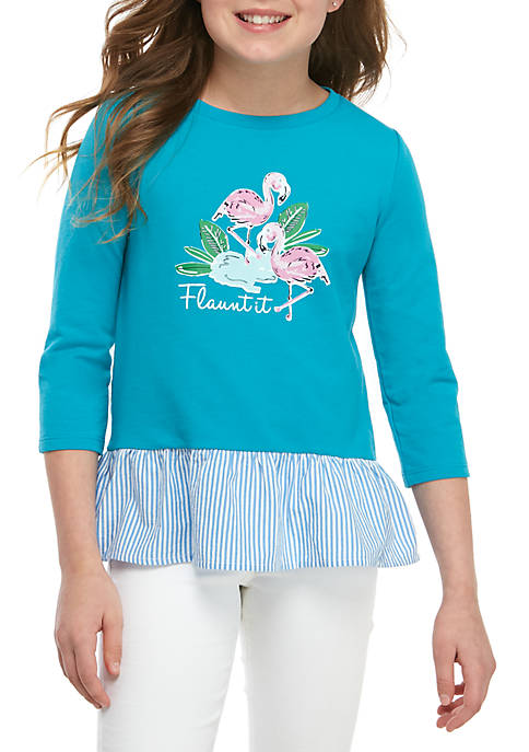 Crown & Ivy™ Girls 7-16 Knit to Woven