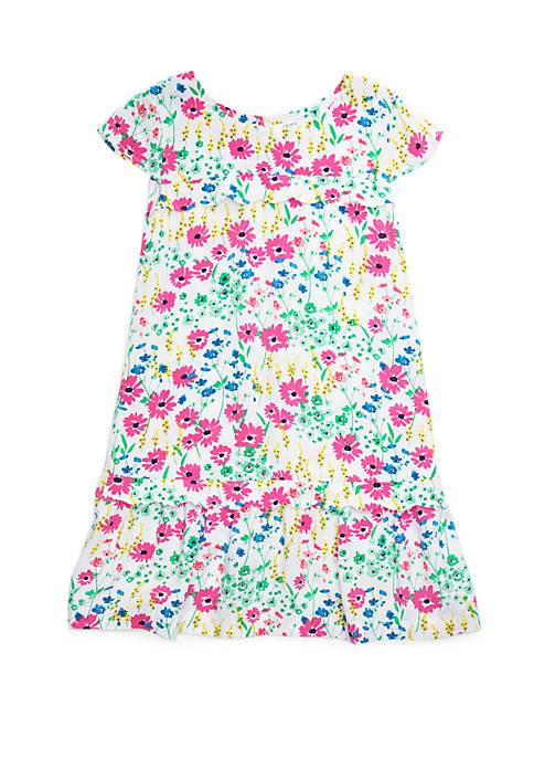 Crown & Ivy™ Girls 7-16 Short Sleeve Scallop