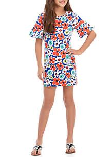 Crown & Ivy™ Girls 7-16 Printed Flare Dress