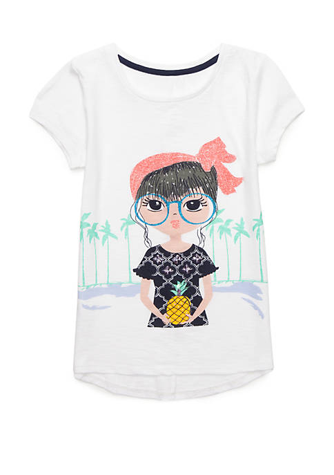 Crown & Ivy™ Girls 7-16 Short Sleeve Graphic