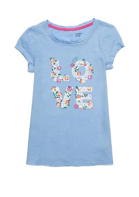 Girls 7-16 Short Sleeve Printed Tunic