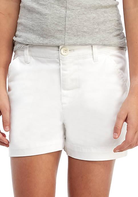 Girls 7-16 Twill Shorts