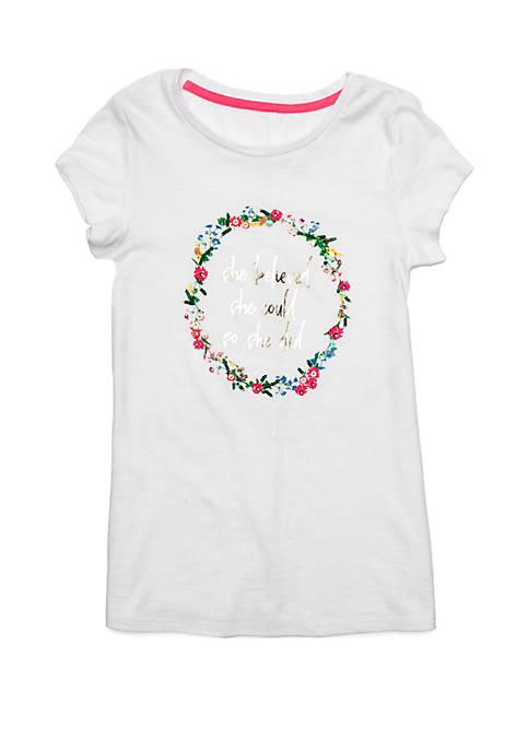 Crown & Ivy™ Girls 7-16 Short Sleeve Tunic