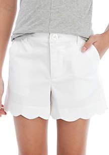 Crown & Ivy™ Girls 7-16 Scallop Shorts