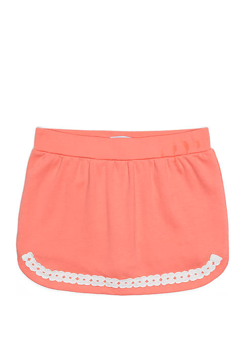 Crown & Ivy™ Girls 7-16 Lace Trim Skort