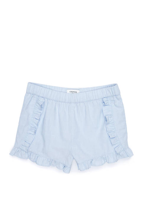 Crown & Ivy™ Girls 7-16 Ruffle Shorts
