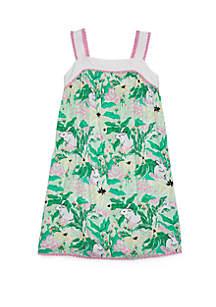 Crown & Ivy™ Girls 7-16 Sleeveless Pom Dress