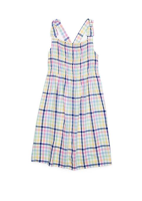 Crown & Ivy™ Girls 7-16 Sleeveless Smocked Dress