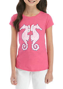 Crown & Ivy™ Girls 7-16 Short Sleeve Printed Graphic Tee