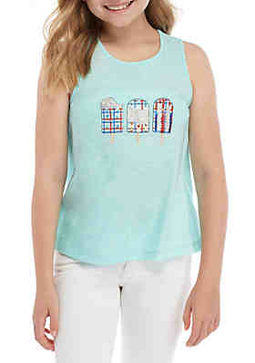 34fd414220a Crown & Ivy™ Girls 7-16 Sleeveless Printed Graphic Tee ...