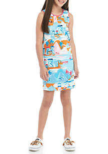Crown & Ivy™ Girls 7-16 Keyhole Trim Dress