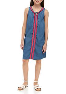 94ba3a90c6e ... Crown   Ivy™ Girls 7-16 Sleeveless Fringe Dress
