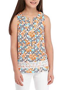 Crown & Ivy™ Girls 7-16 Sleeveless Crochet Peasant Top